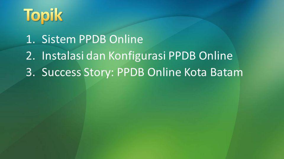 Topik Sistem PPDB Online Instalasi dan Konfigurasi PPDB Online