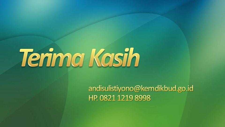 andisulistiyono@kemdikbud.go.id HP. 0821 1219 8998