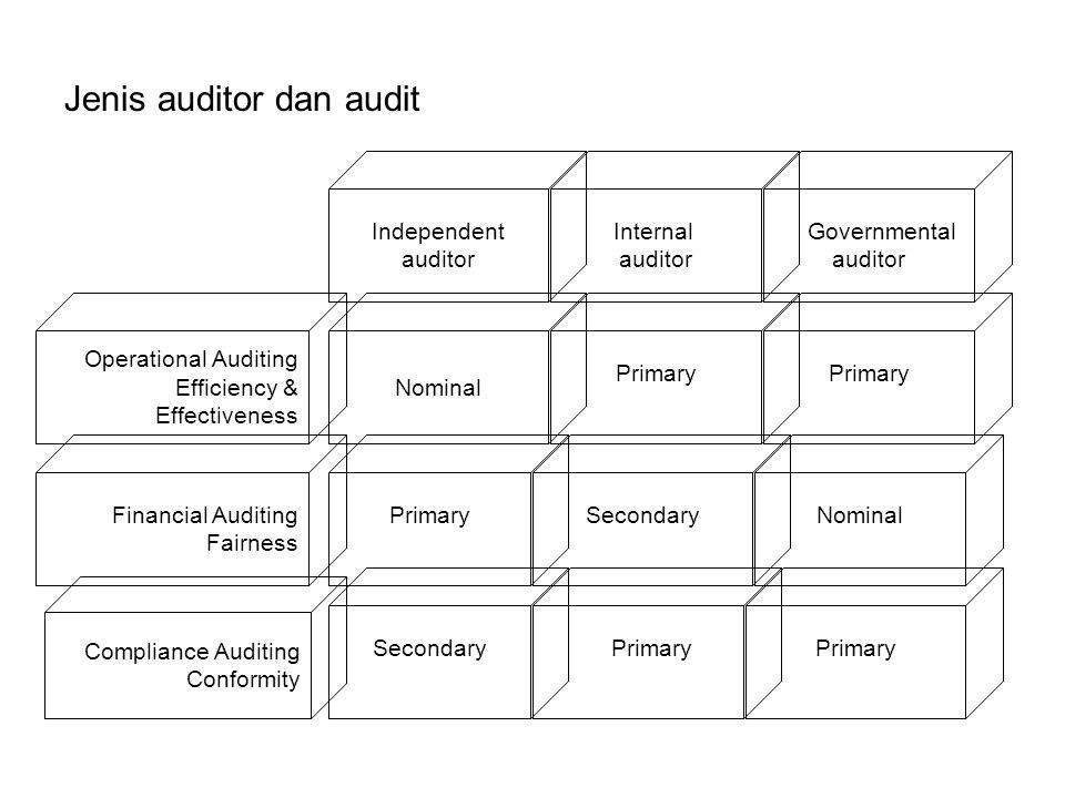 Jenis auditor dan audit