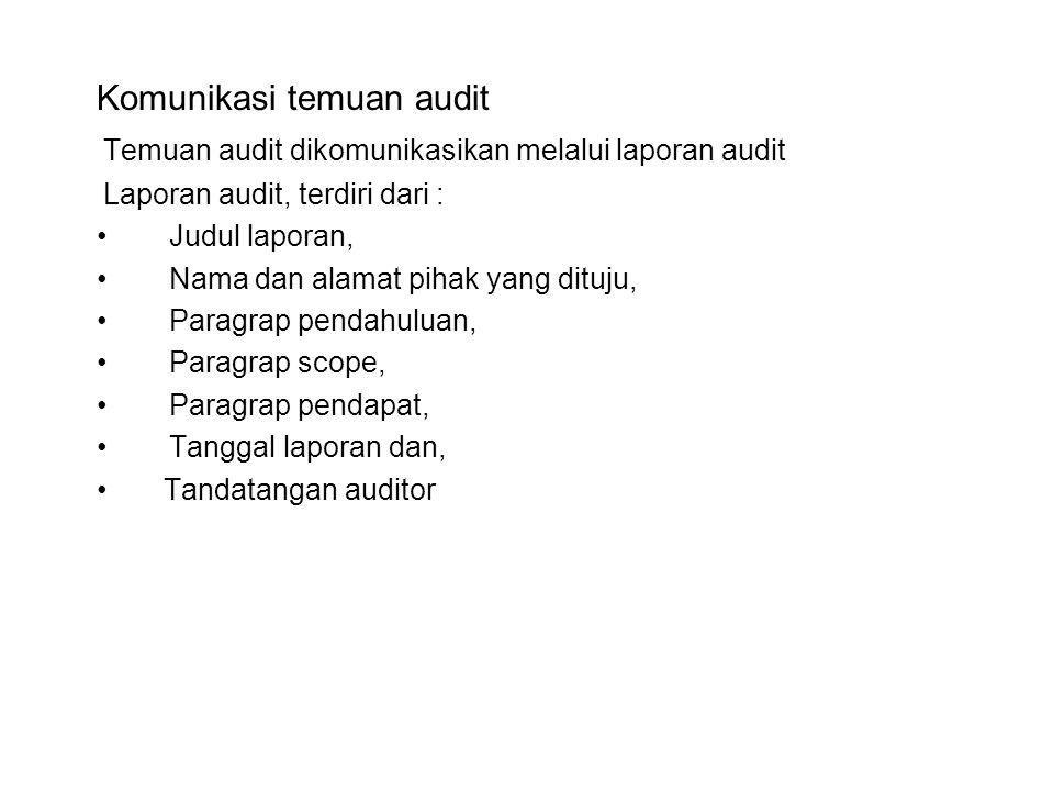 Komunikasi temuan audit