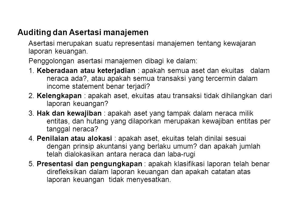 Auditing dan Asertasi manajemen