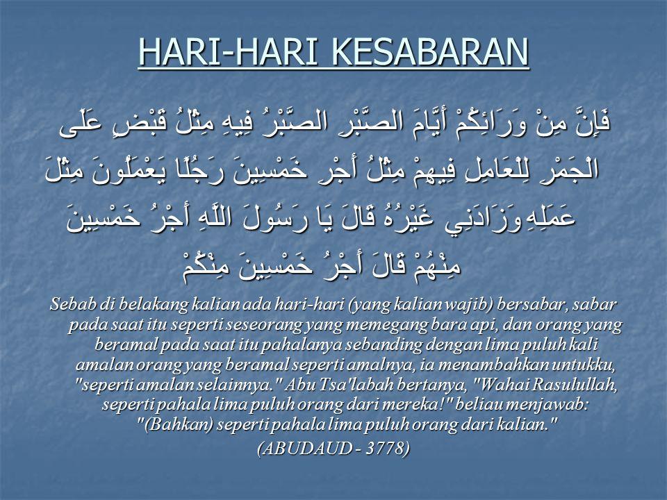 HARI-HARI KESABARAN