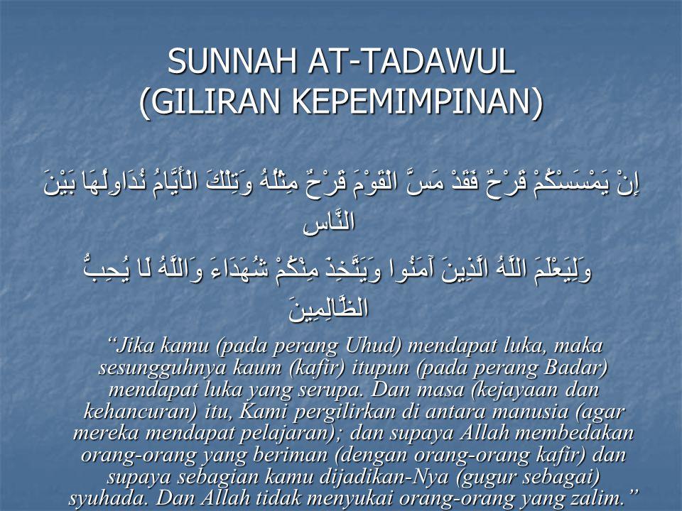 SUNNAH AT-TADAWUL (GILIRAN KEPEMIMPINAN)