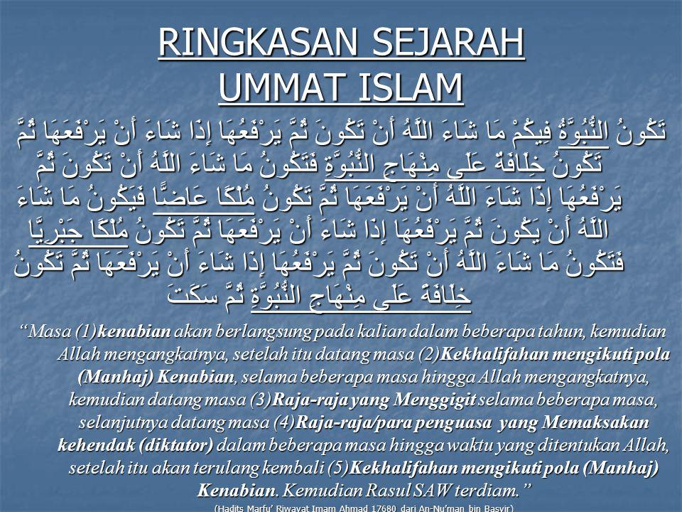 RINGKASAN SEJARAH UMMAT ISLAM