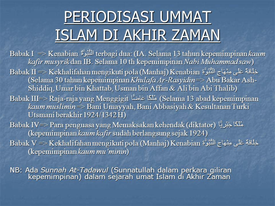PERIODISASI UMMAT ISLAM DI AKHIR ZAMAN