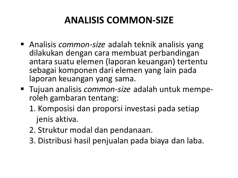 ANALISIS COMMON-SIZE