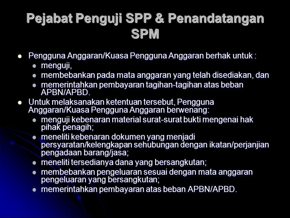 Pejabat Penguji SPP & Penandatangan SPM
