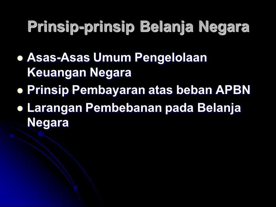 Prinsip-prinsip Belanja Negara