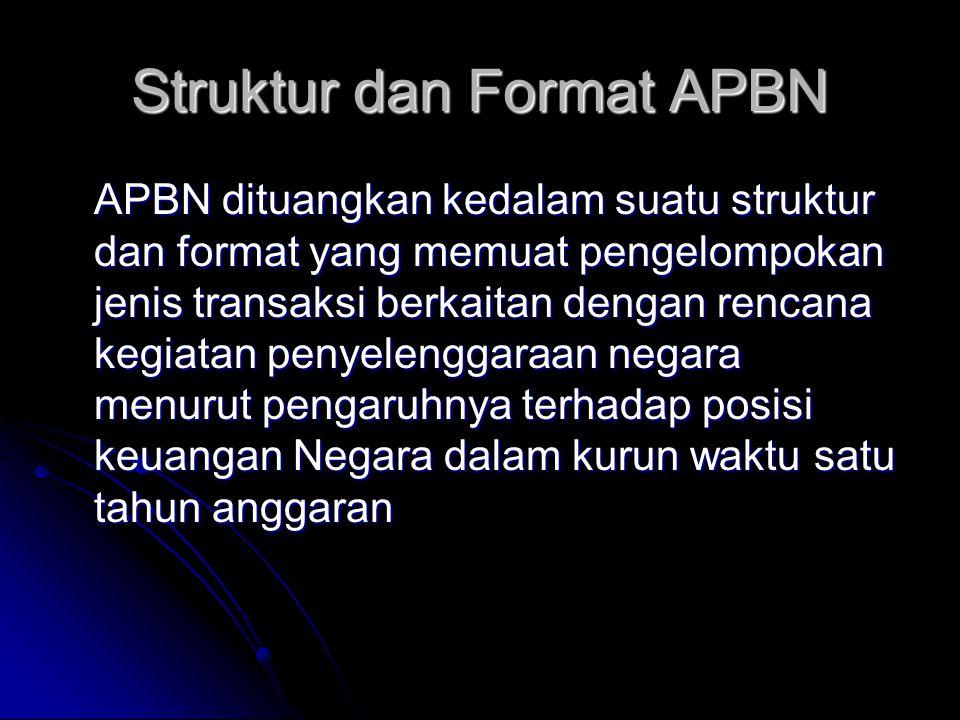 Struktur dan Format APBN