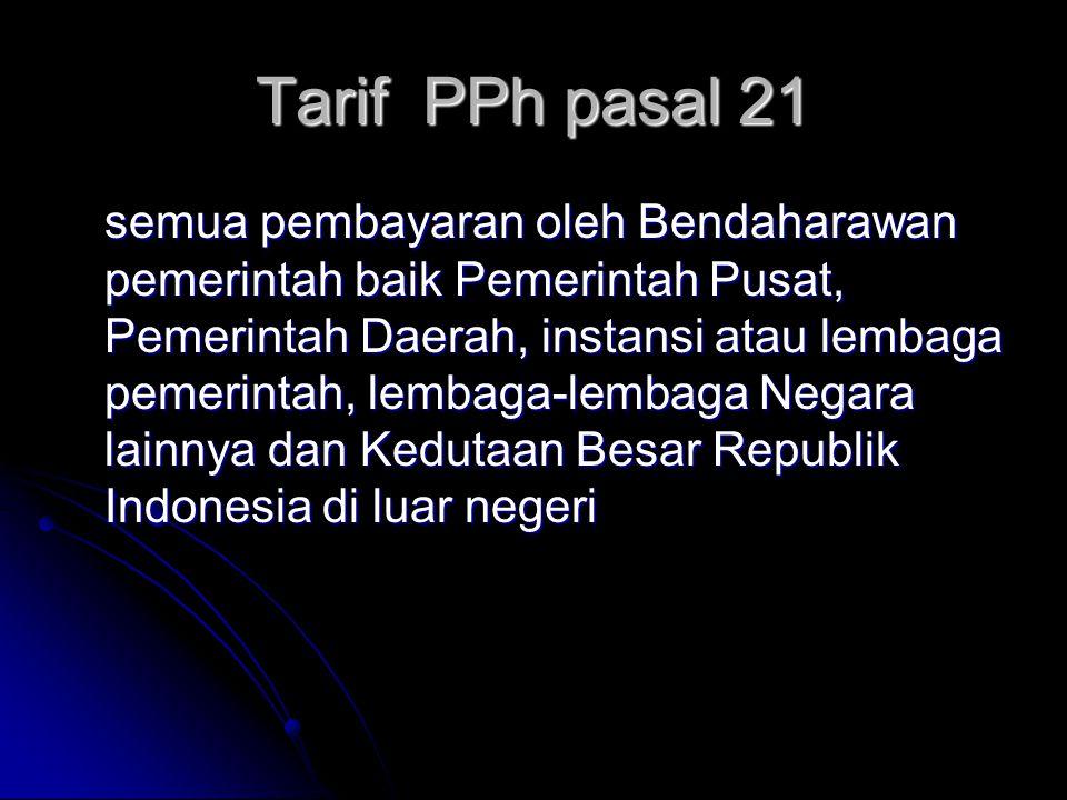 Tarif PPh pasal 21