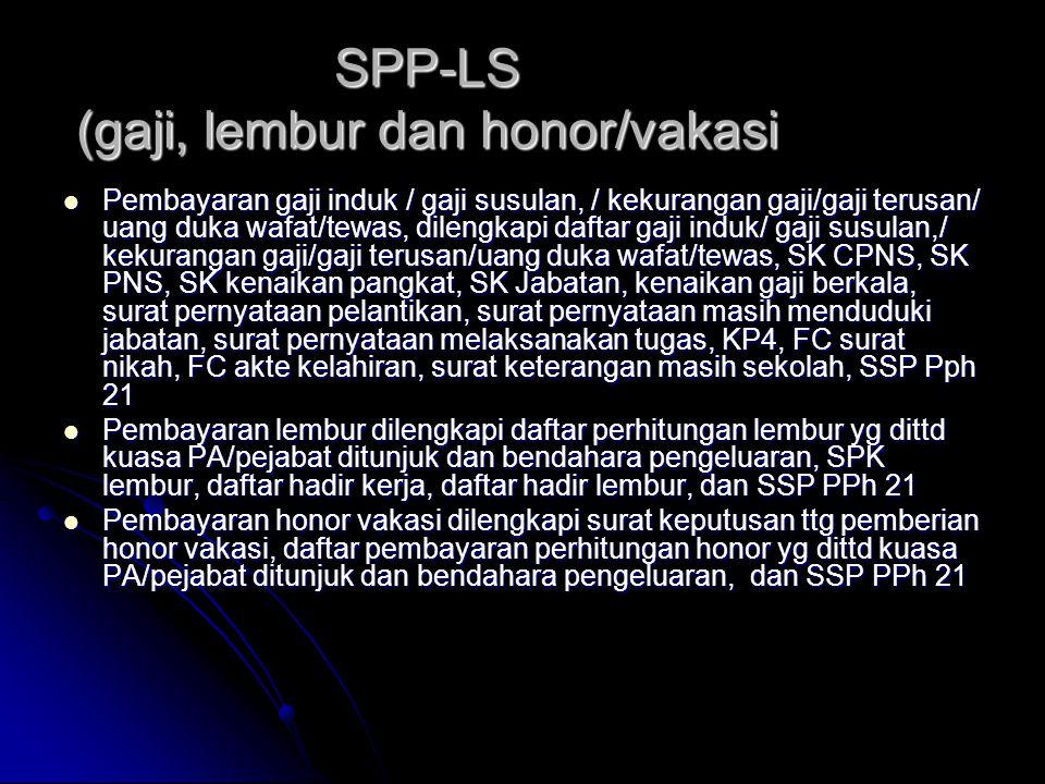SPP-LS (gaji, lembur dan honor/vakasi
