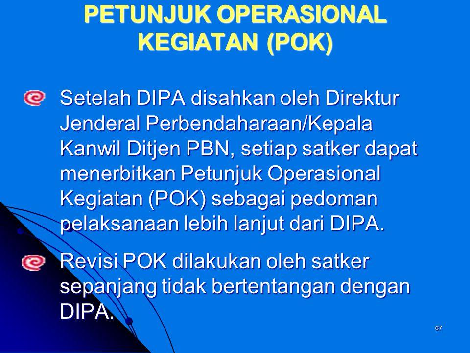 PETUNJUK OPERASIONAL KEGIATAN (POK)