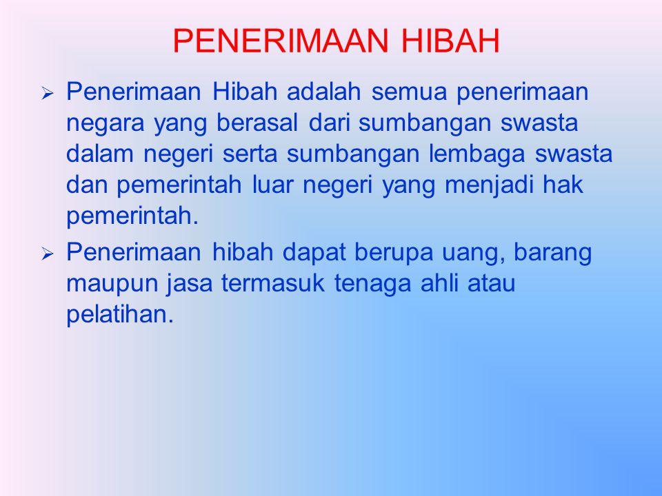 PENERIMAAN HIBAH