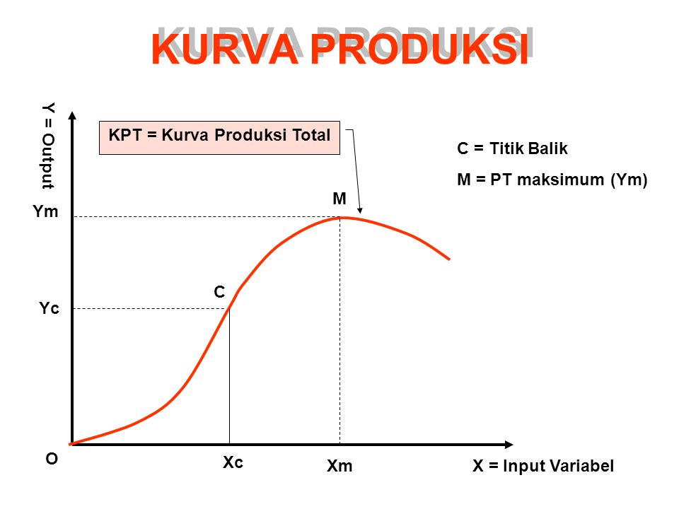 KPT = Kurva Produksi Total
