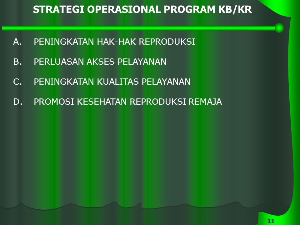 STRATEGI OPERASIONAL PROGRAM KB/KR
