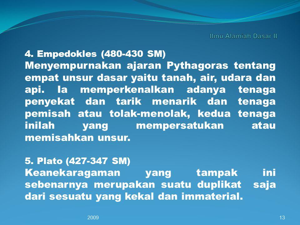 Ilmu Alamiah Dasar II 4. Empedokles (480-430 SM)