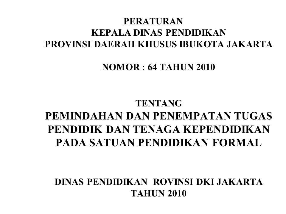 DINAS PENDIDIKAN ROVINSI DKI JAKARTA TAHUN 2010
