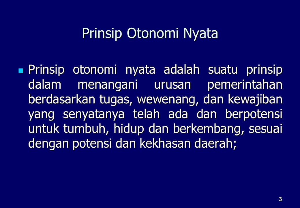 Prinsip Otonomi Nyata