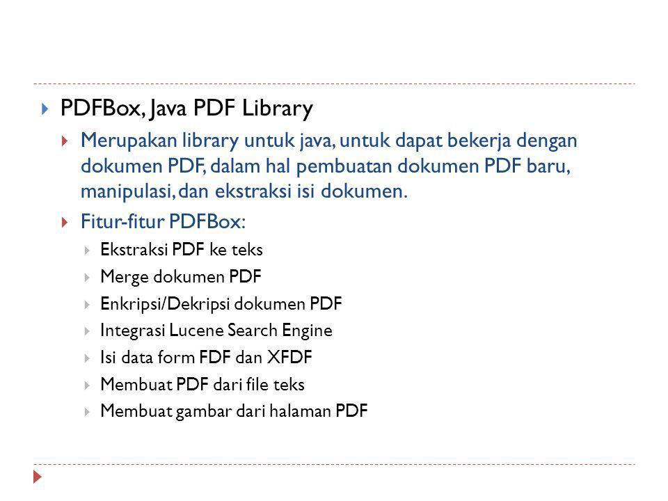 PDFBox, Java PDF Library