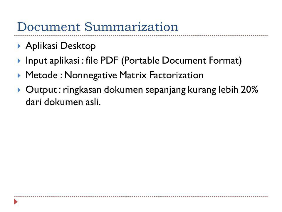 Document Summarization