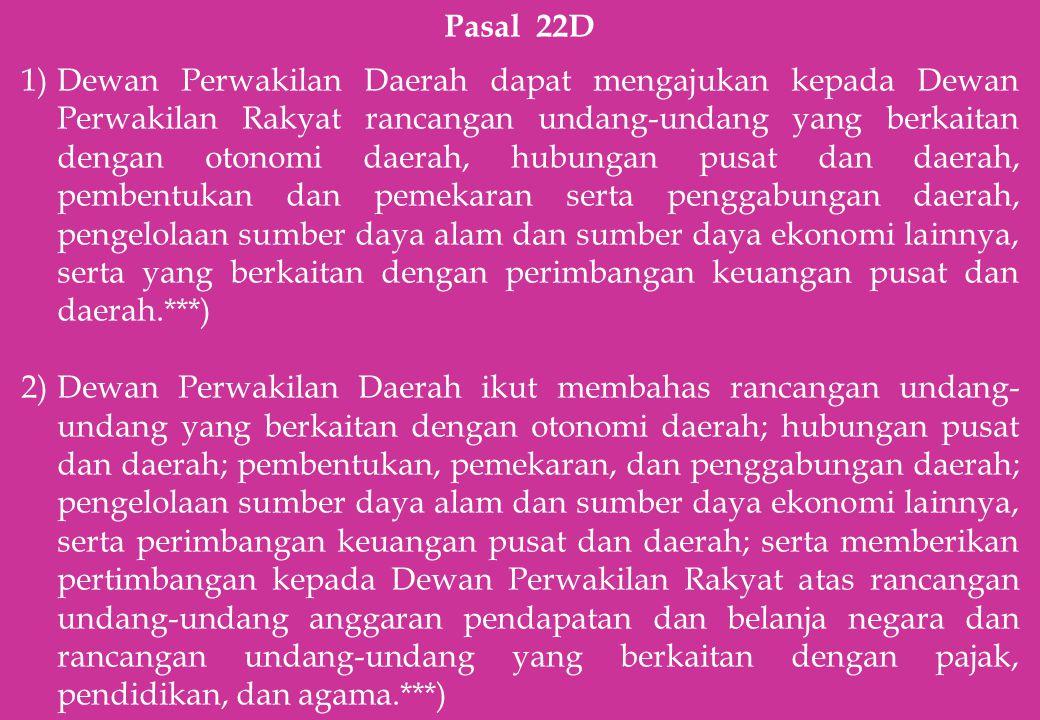 Pasal 22D