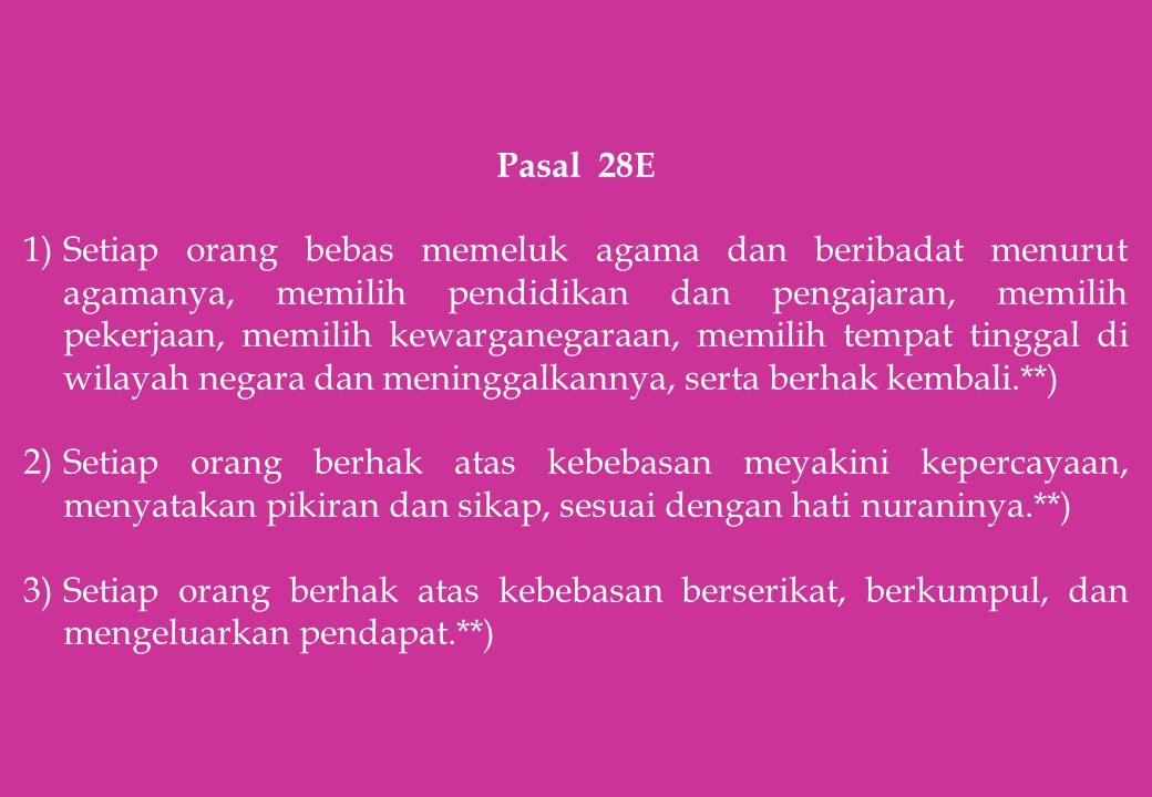 Pasal 28E