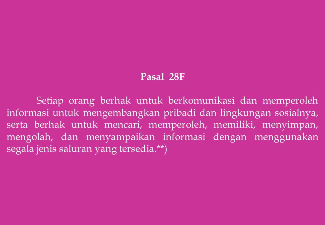 Pasal 28F