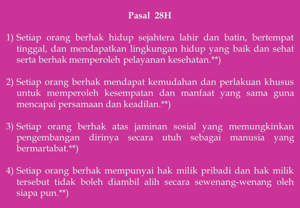 Pasal 28H