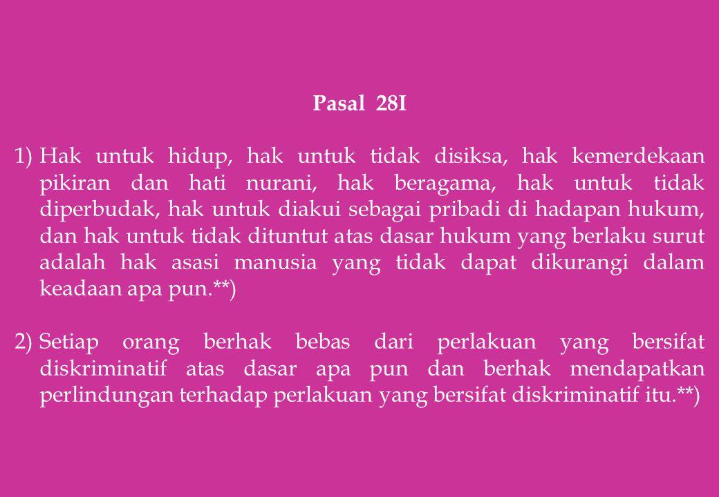 Pasal 28I
