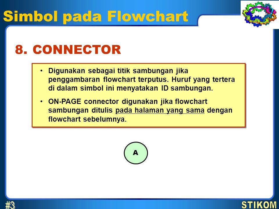 Simbol pada Flowchart #3 8. CONNECTOR STIKOM