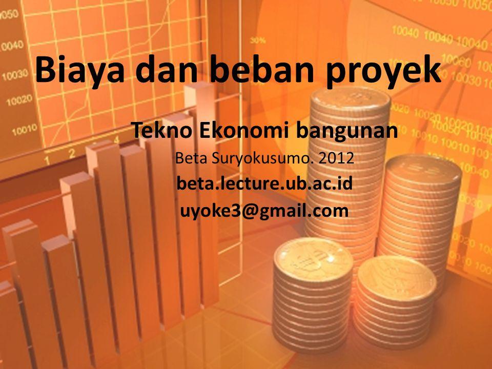 Tekno Ekonomi bangunan