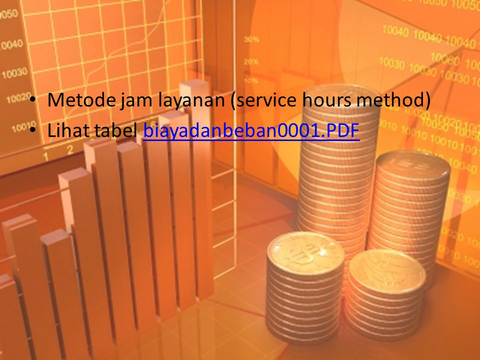 Metode jam layanan (service hours method)