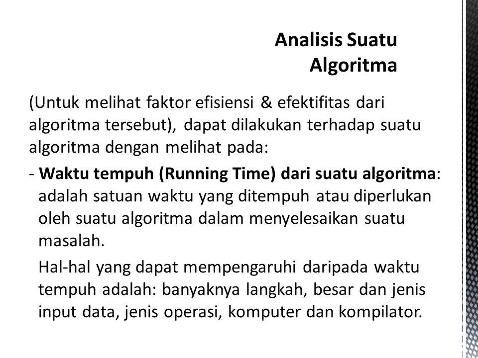 Analisis Suatu Algoritma