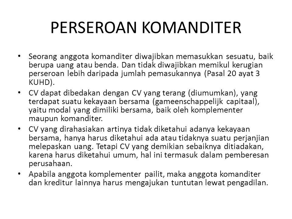 PERSEROAN KOMANDITER