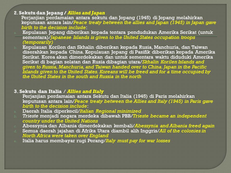 3. Sekutu dan Italia / Allies and Italy