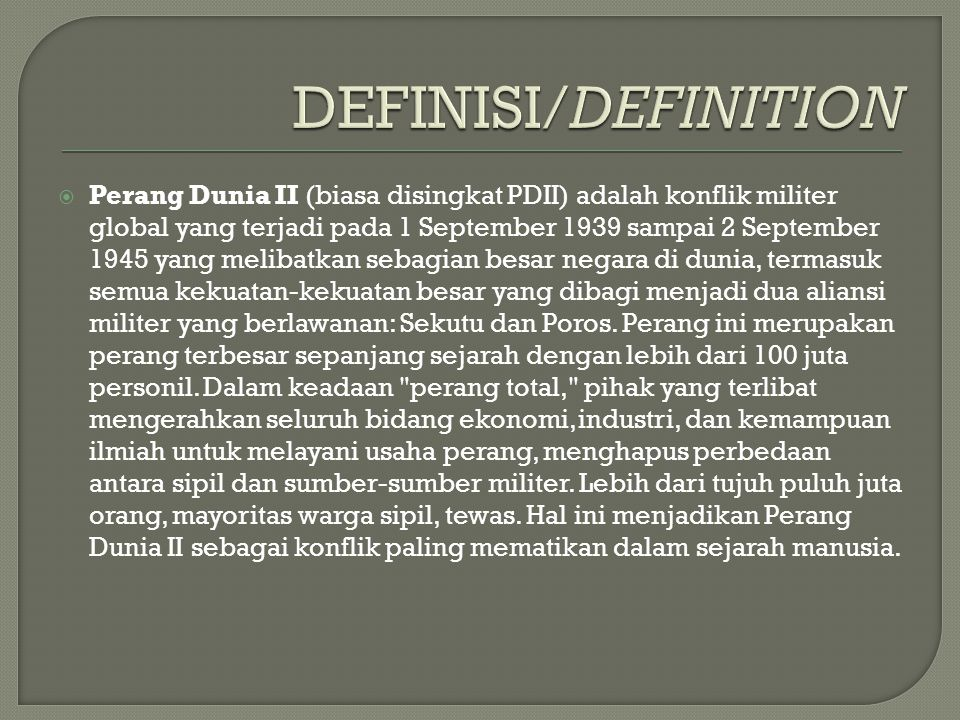 DEFINISI/DEFINITION