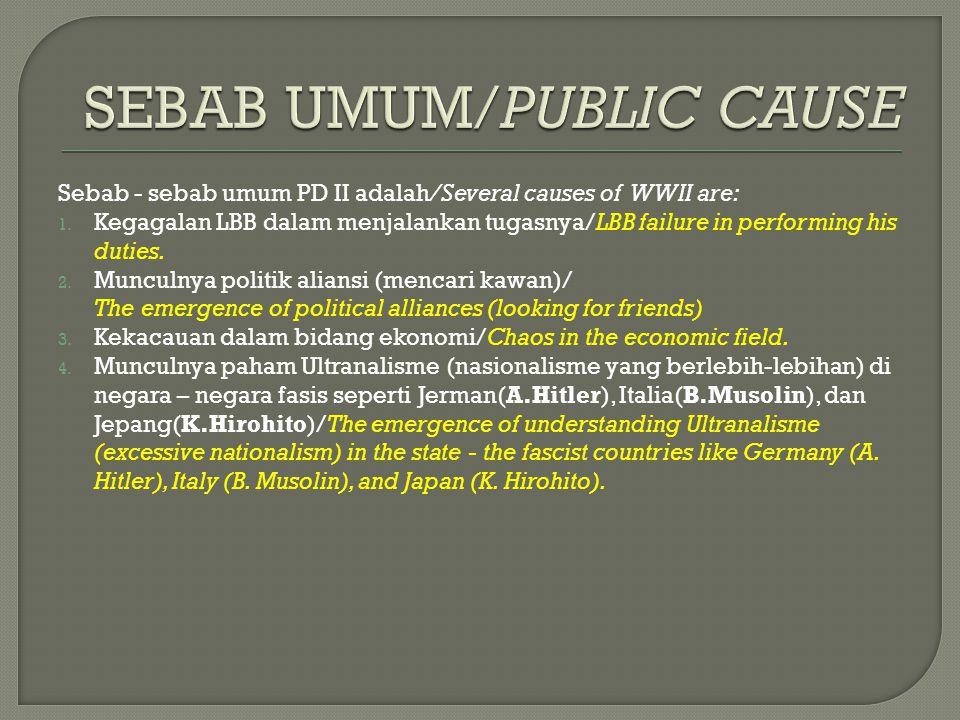 SEBAB UMUM/PUBLIC CAUSE
