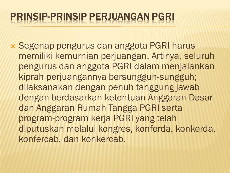 Prinsip-Prinsip Perjuangan PGRI