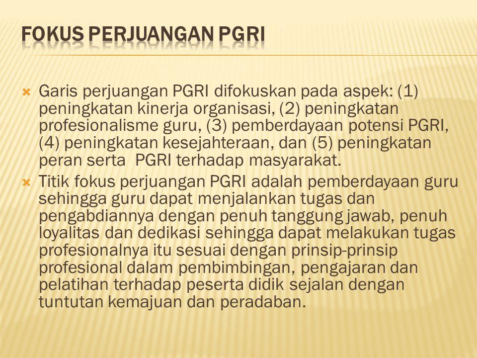 Fokus Perjuangan PGRI