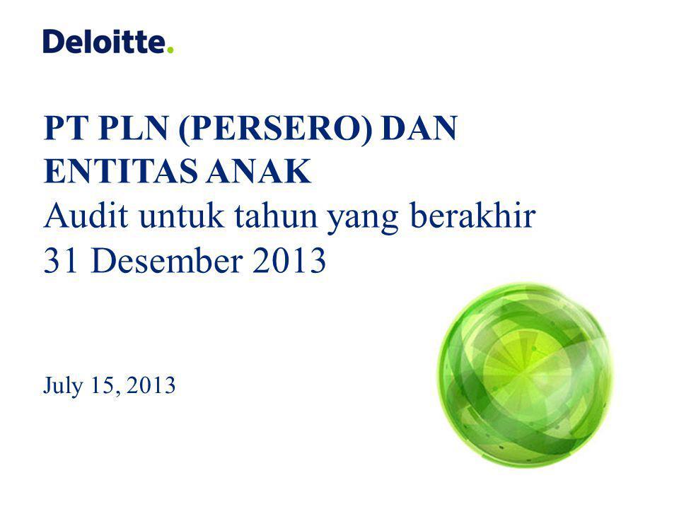 Audit untuk tahun yang berakhir 31 Desember 2013