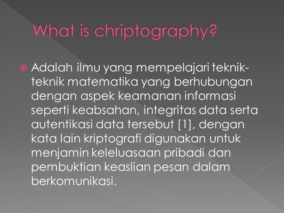 What is chriptography