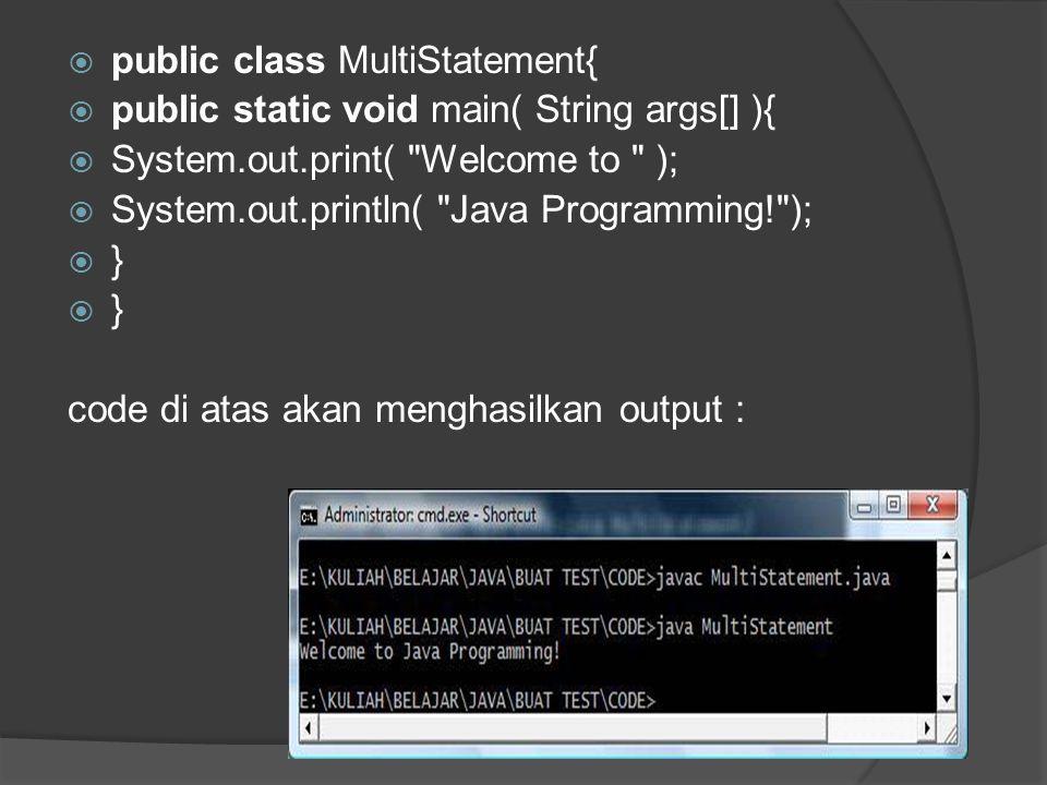 public class MultiStatement{
