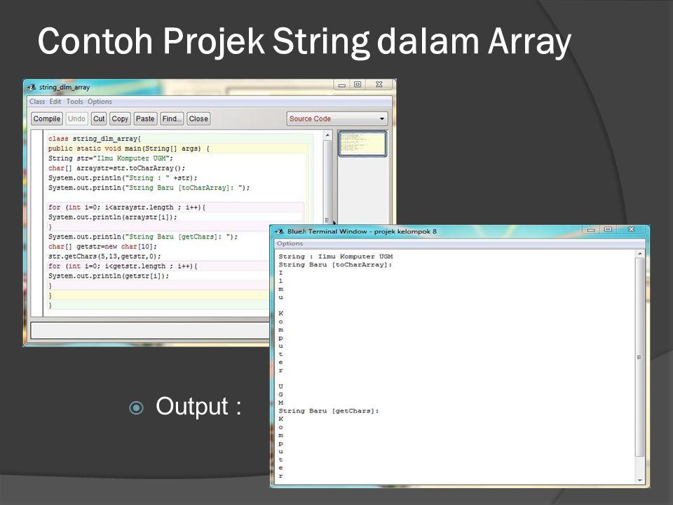 Contoh Projek String dalam Array