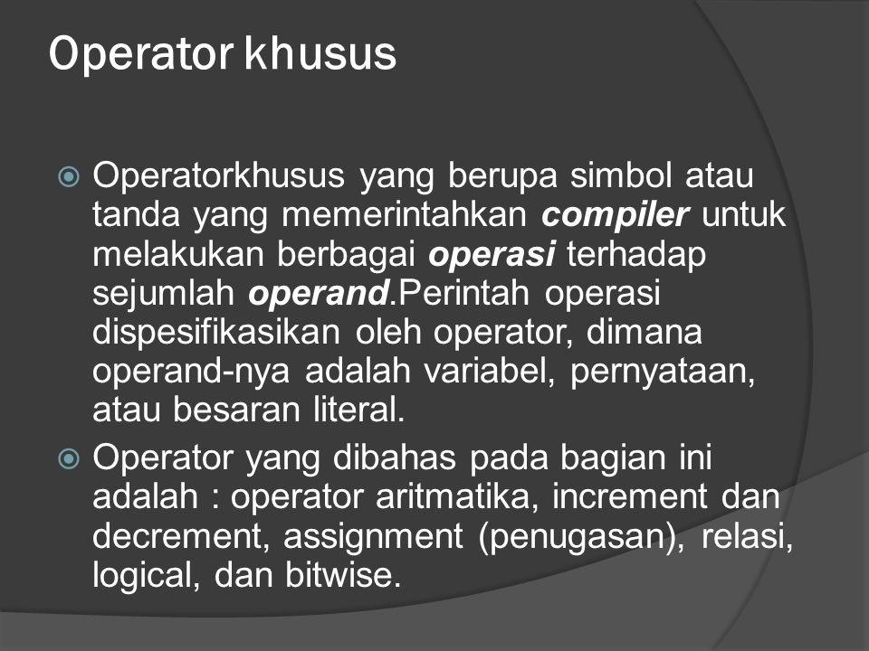 Operator khusus