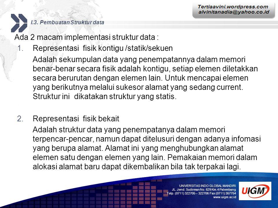 I.3. Pembuatan Struktur data