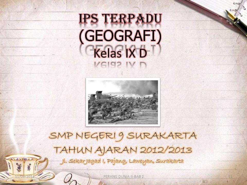 IPS TERPADU (GEOGRAFI) Kelas IX D