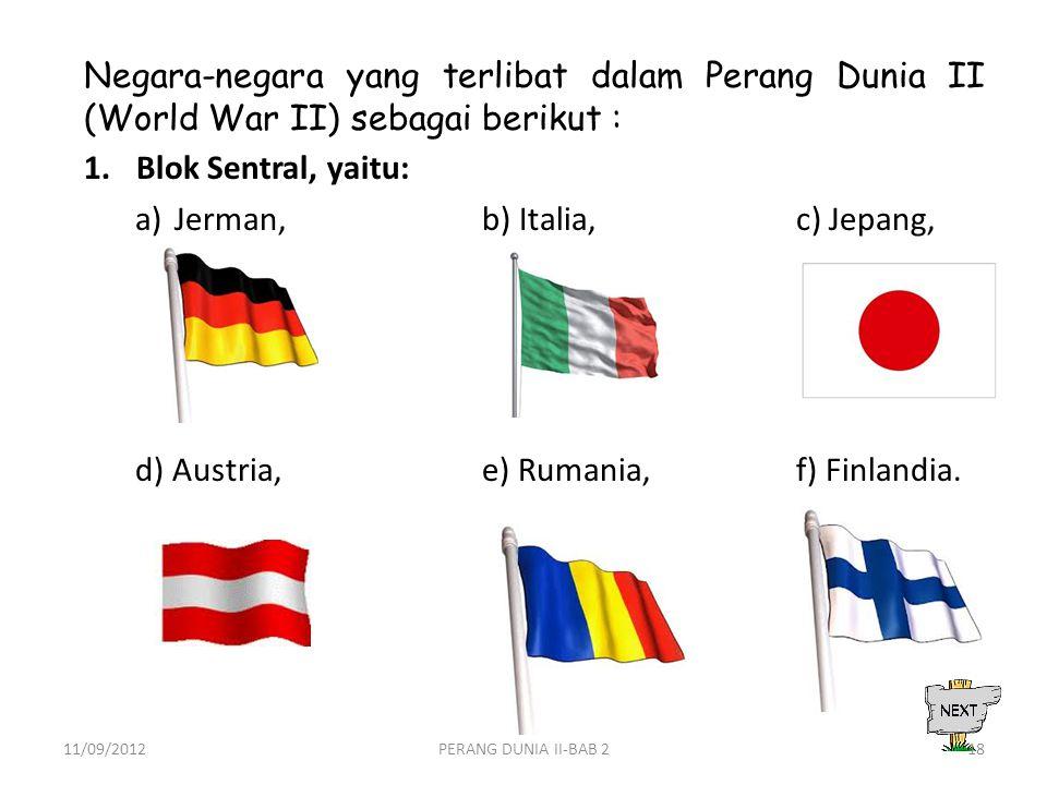 Jerman, b) Italia, c) Jepang,