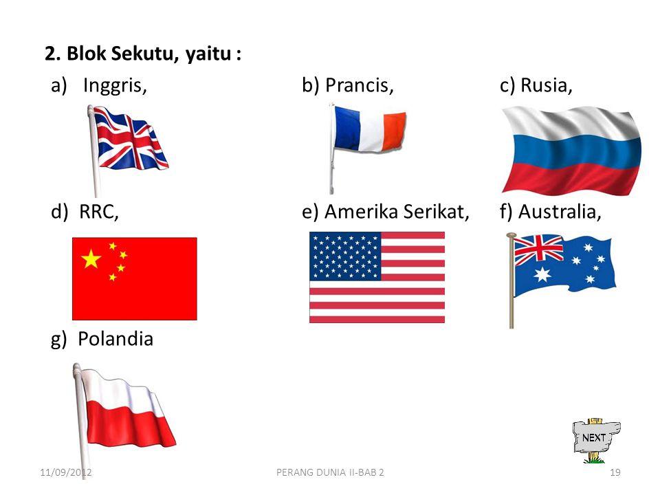 Inggris, b) Prancis, c) Rusia,