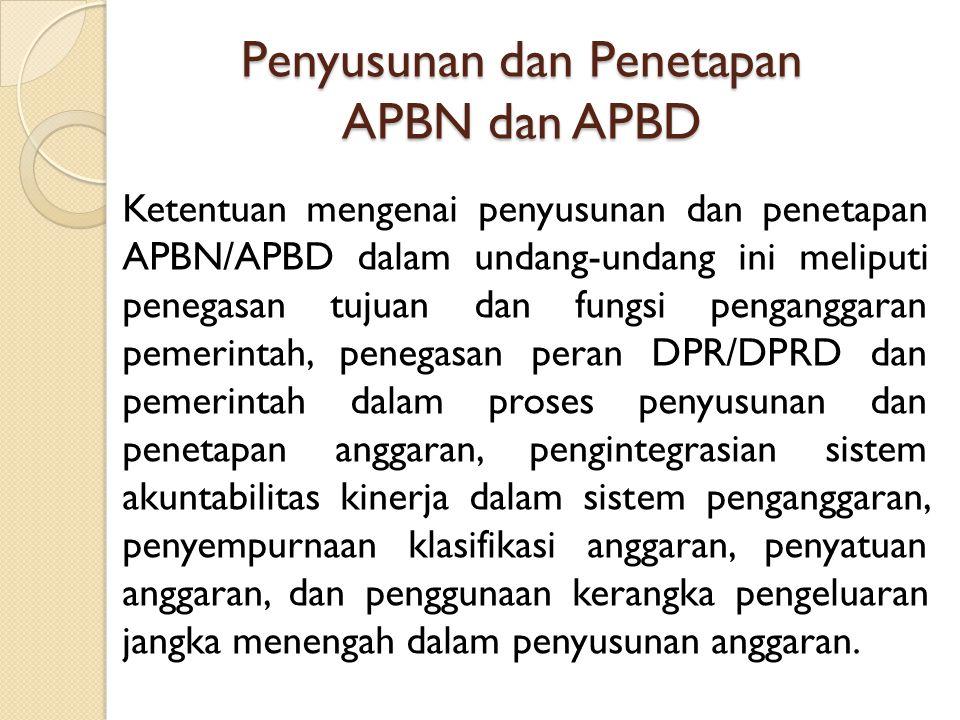 Penyusunan dan Penetapan APBN dan APBD