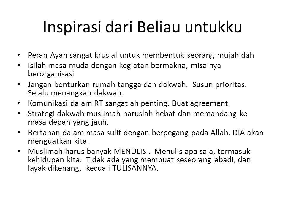 Inspirasi dari Beliau untukku